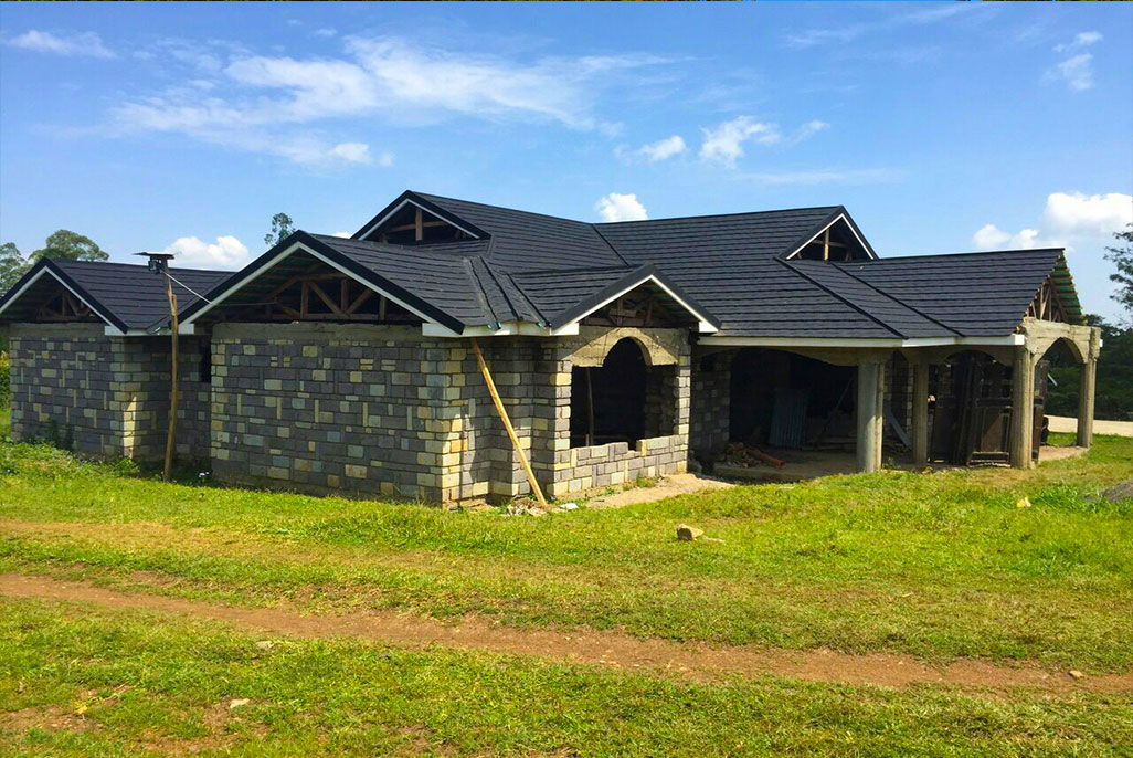 Shingles Black Installation- Roofing tiles Kenya