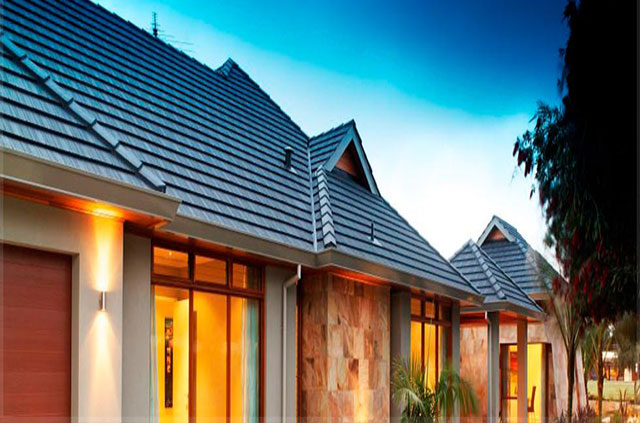 Roofing Tile Kenya Classic Black Roofing Tiles on a building